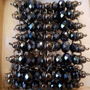 Black Irredecent Crystal bracelet